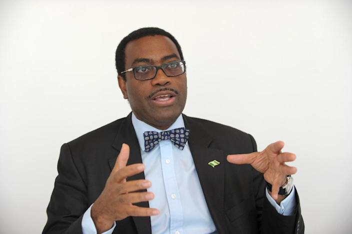 Nigeria's outgoing agriculture minister Akinwumi Adesina, pictured in Paris on March 25, 2015, won the vote to become the new president of the African Development Bank (AFP Photo/Eric Piermont)