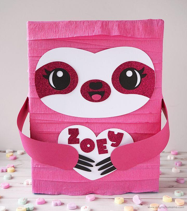 """<p>This adorable sloth is easy to make with recycled materials and a few basic craft supplies. It has so much personality!</p><p><strong>Get the tutorial at</strong> <a href=""""https://www.artsyfartsymama.com/2020/02/sloth-valentine-card-box.html"""" rel=""""nofollow noopener"""" target=""""_blank"""" data-ylk=""""slk:Artsy Fartsy Mama."""" class=""""link rapid-noclick-resp""""><strong>Artsy Fartsy Mama.</strong></a></p><p><a class=""""link rapid-noclick-resp"""" href=""""https://www.amazon.com/DENNECREPE-Crepe-Paper-Streamers-Rolls/dp/B0063IXUT6/?tag=syn-yahoo-20&ascsubtag=%5Bartid%7C2164.g.35119968%5Bsrc%7Cyahoo-us"""" rel=""""nofollow noopener"""" target=""""_blank"""" data-ylk=""""slk:SHOP PINK CREPE PAPER"""">SHOP PINK CREPE PAPER</a></p>"""