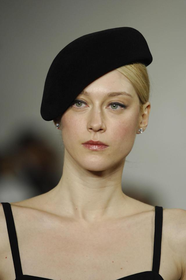 Anastassia Khozzisova wearing Ralph Lauren Fall 2007 (Photo by Biasion Studio/WireImage)