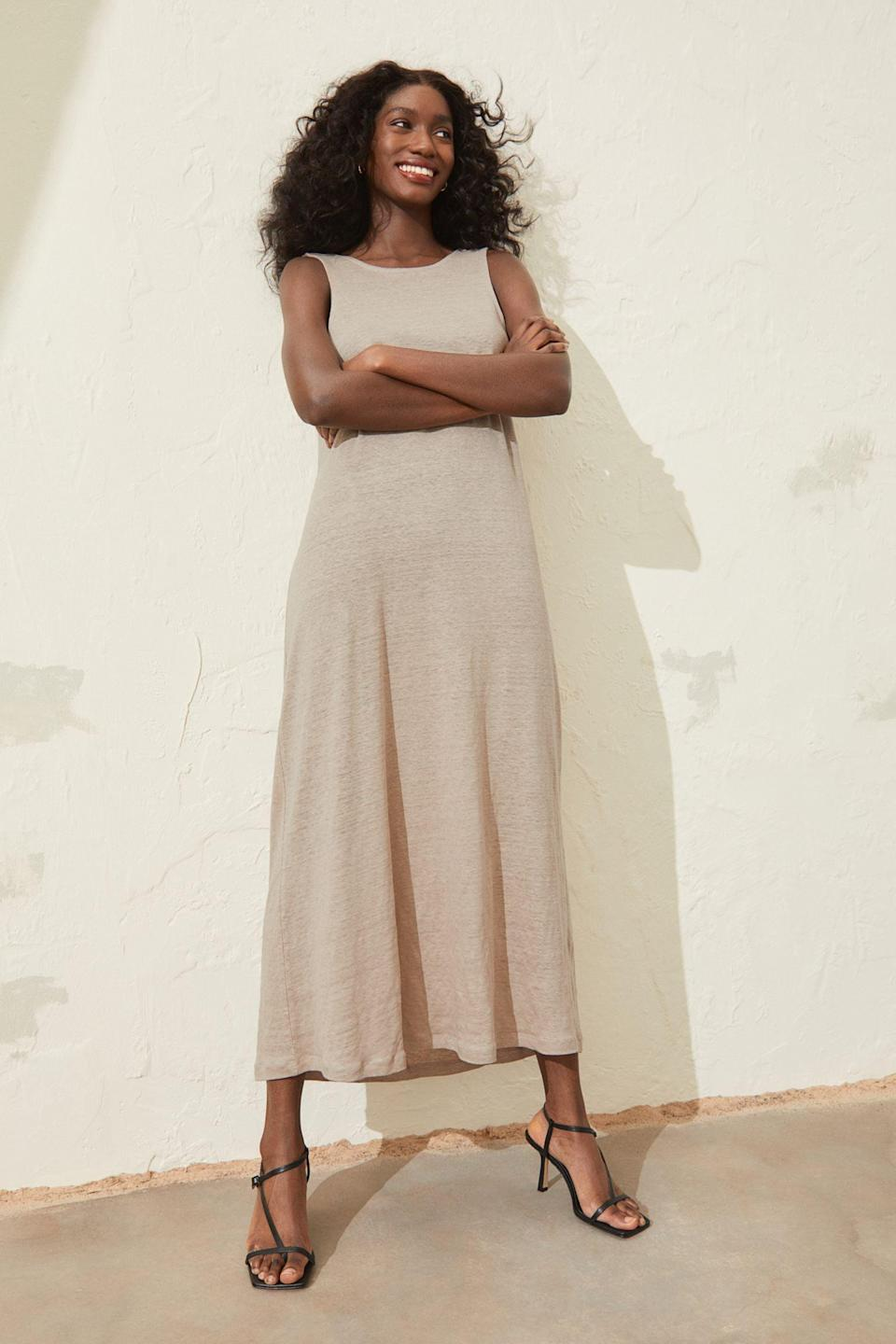 <p>This <span>Linen Jersey Dress</span> ($50) is an easy-breezy summer pick that you just can't go wrong with.</p>