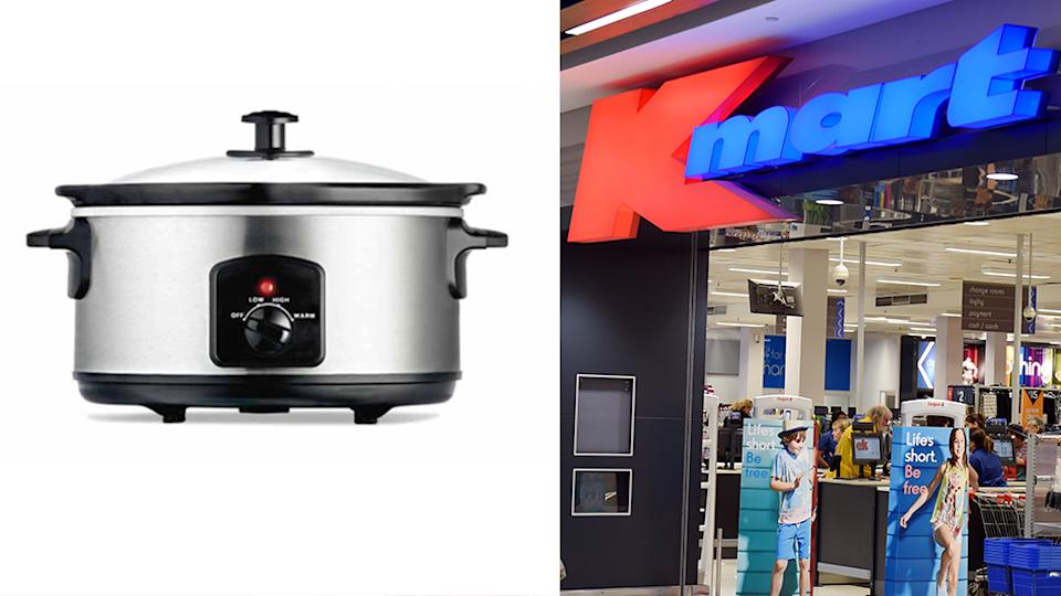 A popular Kmart pot has caused a stir on social media after customers spotted an unfortunate spelling mistake. Source: Kmart / AAP