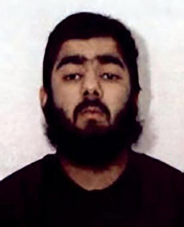 Usman Khan killed two people dead injured three more in a knife attack in November. (AP)