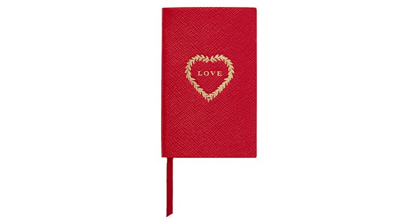 Smythson Love Textured-Leather Notebook