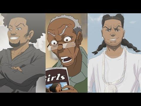 """<p>Loosely based on a comic strip, the animated series follows a Black family (the Freemans) settling into life in a mostly white suburb. There's nothing particularly kid-friendly about the <em>Boondocks</em>, but it's still one hell of a show. And as of September 2019, the series is also getting a two-season reboot on HBO Max.</p><p><a class=""""link rapid-noclick-resp"""" href=""""https://www.adultswim.com/videos/the-boondocks"""" rel=""""nofollow noopener"""" target=""""_blank"""" data-ylk=""""slk:STREAM IT HERE"""">STREAM IT HERE</a></p><p><a href=""""https://www.youtube.com/watch?v=kchW5rsLH8Y"""" rel=""""nofollow noopener"""" target=""""_blank"""" data-ylk=""""slk:See the original post on Youtube"""" class=""""link rapid-noclick-resp"""">See the original post on Youtube</a></p>"""