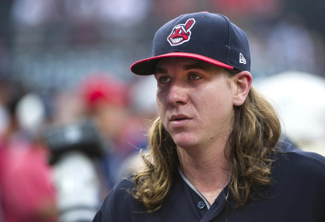 Mike Clevinger was quite mad online a day after Cleveland was eliminated. (AP Photo)