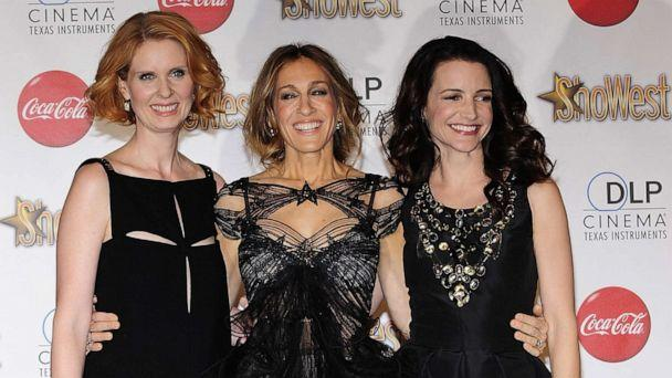 PHOTO: Actresses Cynthia Nixon, Sarah Jessica Parker and Kristin Davis  at Paris Las Vegas during ShoWest, the official convention of the National Association of Theatre Owners, March 18, 2010, in Las Vegas. (Steven Lawton/FilmMagic via Getty Images, FILE)