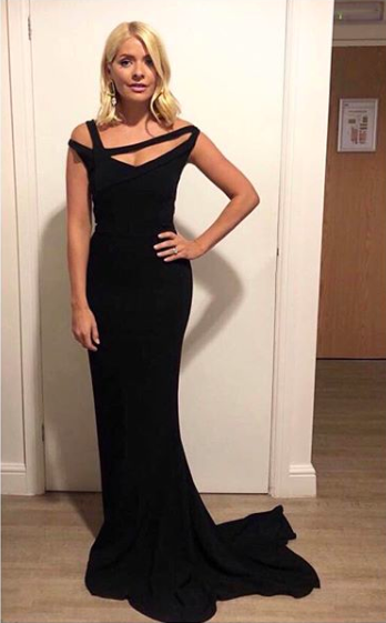 <p>The television presenter sent fans wild on September 5 in a chic evening gown by Greek designer Celia Kritharioti. She accessorised the look with Kurt Geiger heels and earrings by Alighieri Jewellery. <em>[Photo: Instagram]</em> </p>
