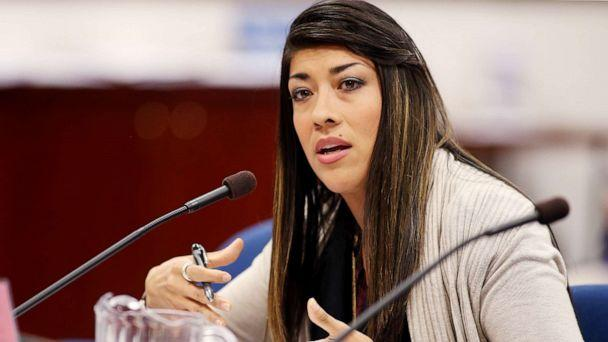 PHOTO: Nevada Assemblywoman Lucy Flores presents a measure in committee at the Legislative Building in Carson City, Nev., May 10, 2013. (Cathleen Allison/AP)