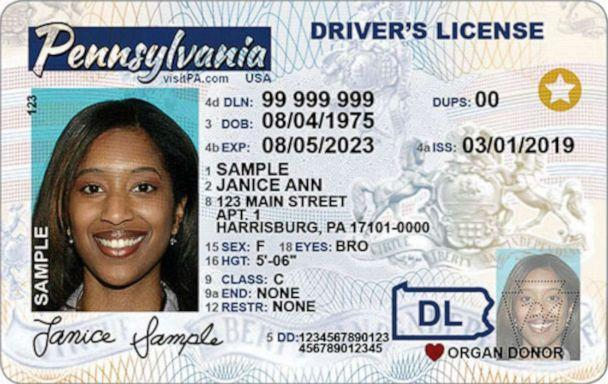 PHOTO: A sample Real ID driver's license was released by the Department of Motor Vehicles. (Department of Motor Vehicles)