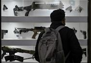 Originally designed as sports guns, for target-shooting, the guns are imported from China and Turkey, and sold everywhere from malls to supermarkets, on the street or the internet (AFP/Juan BARRETO)