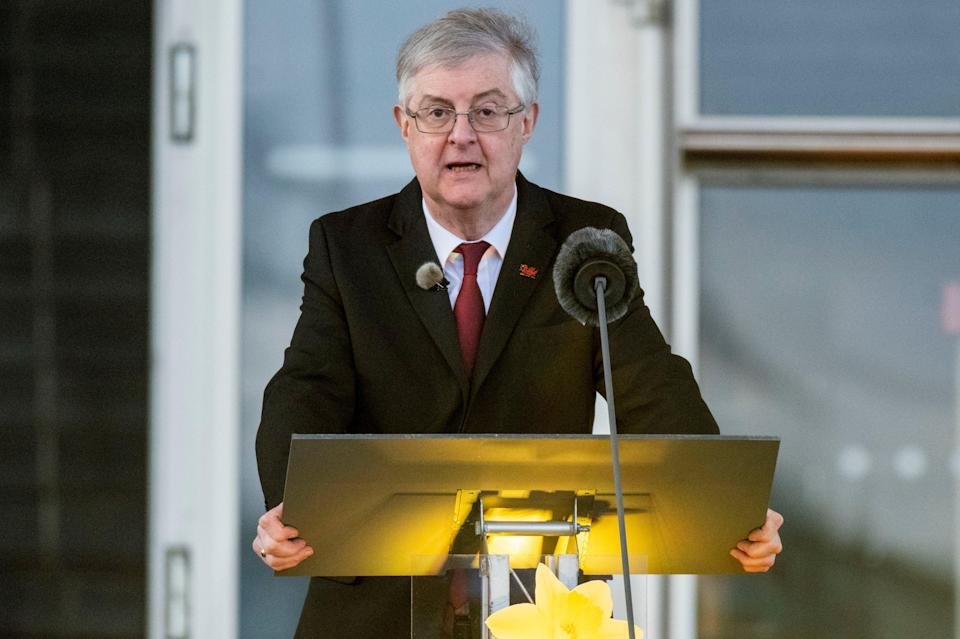 Welsh first minister Mark Drakeford has announced a string of coronavirus restrictions will be lifted early as infection rates fallMatthew Horwood/PA