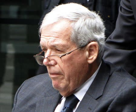 Former U.S. Speaker of the House Dennis Hastert leaves the Dirksen Federal courthouse after his sentencing hearing in Chicago, Illinois April 27, 2016. REUTERS/Frank Polich/File Photo