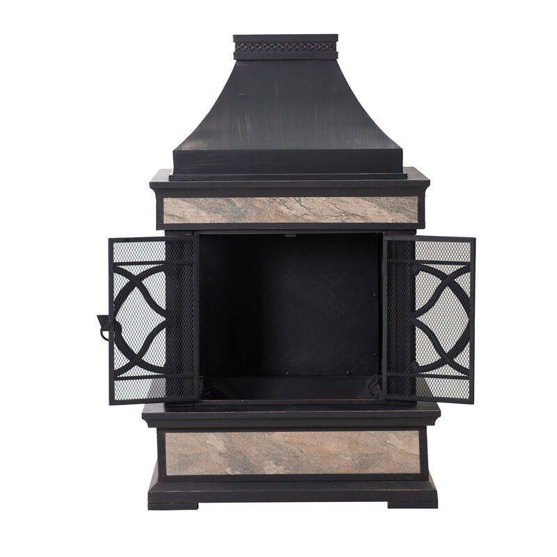 """<p><strong>Fleur De Lis Living</strong></p><p>wayfair.com</p><p><strong>$659.99</strong></p><p><a href=""""https://go.redirectingat.com?id=74968X1596630&url=https%3A%2F%2Fwww.wayfair.com%2Foutdoor%2Fpdp%2Ffleur-de-lis-living-sofie-steel-wood-burning-outdoor-fireplace-w004994717.html&sref=https%3A%2F%2Fwww.countryliving.com%2Fshopping%2Fg37026239%2Fbest-outdoor-fire-pits%2F"""" rel=""""nofollow noopener"""" target=""""_blank"""" data-ylk=""""slk:Shop Now"""" class=""""link rapid-noclick-resp"""">Shop Now</a></p><p>Pour a cup of cocoa or a hot toddy! If you're looking for a more elegant fireplace, this wood-burning unit provides style and a welcoming feel to any patio. At 56.7'' H, it will be a showpiece.</p>"""
