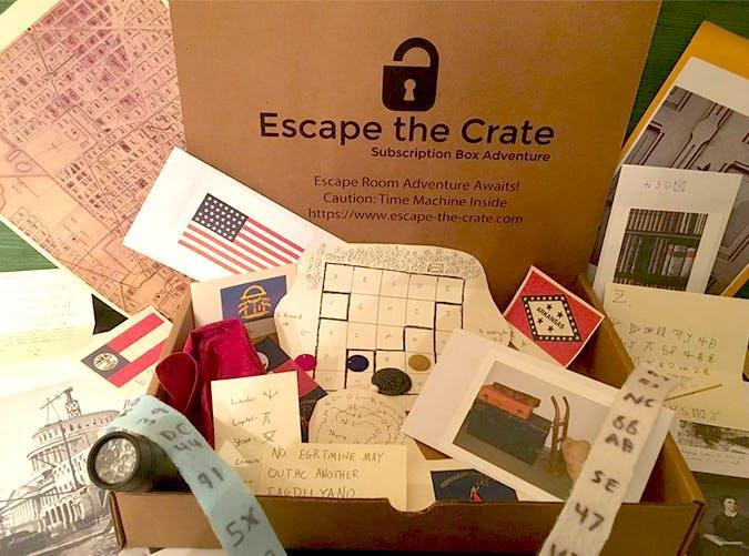 """<h2>41. Escape the Crate</h2> <p><strong>Cost: </strong>$26.50/every two months</p> <p><strong>What you get: </strong>One hour-long game</p> <p><strong>Why we love it: </strong>Love escape rooms? Work with your family and friends to crack codes, solve riddles and discover hidden items—all from the comfort of your home.</p> <p><a class=""""link rapid-noclick-resp"""" href=""""https://www.cratejoy.com/subscription-box/escape-the-crate/?irgwc=1&clickid=WTlUgX3PkRuW28O3QX1-xxAoUkjR80W%3AuVn1080&utm_medium=AFF&utm_source=IR&utm_basket=admitad%20GmbH&utm_carton=ONLINE_TRACKING_LINK&utm_egg=Online%20Tracking%20Link"""" rel=""""nofollow noopener"""" target=""""_blank"""" data-ylk=""""slk:Sign up for Escape the Crate"""">Sign up for <em>Escape the Crate</em></a></p>"""