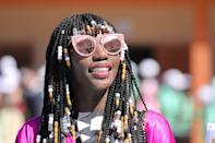 <p>Chunky beads or not, braided bangs are the perfect addition to your protective style - just ask your stylist to cut the hair straight across the forehead. If you do add any additional accessories, just note that you'll want them to snip above the lashes so the fringe doesn't interfere with your eyesight. </p>
