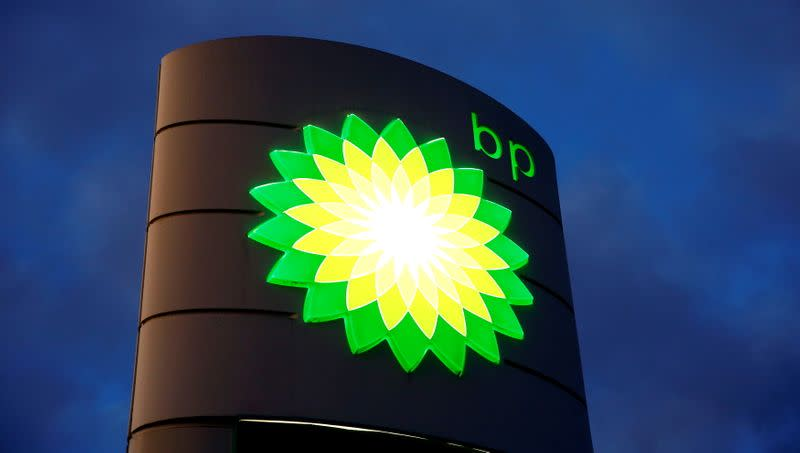 FILE PHOTO: Logo of BP is seen at a petrol station in Kloten