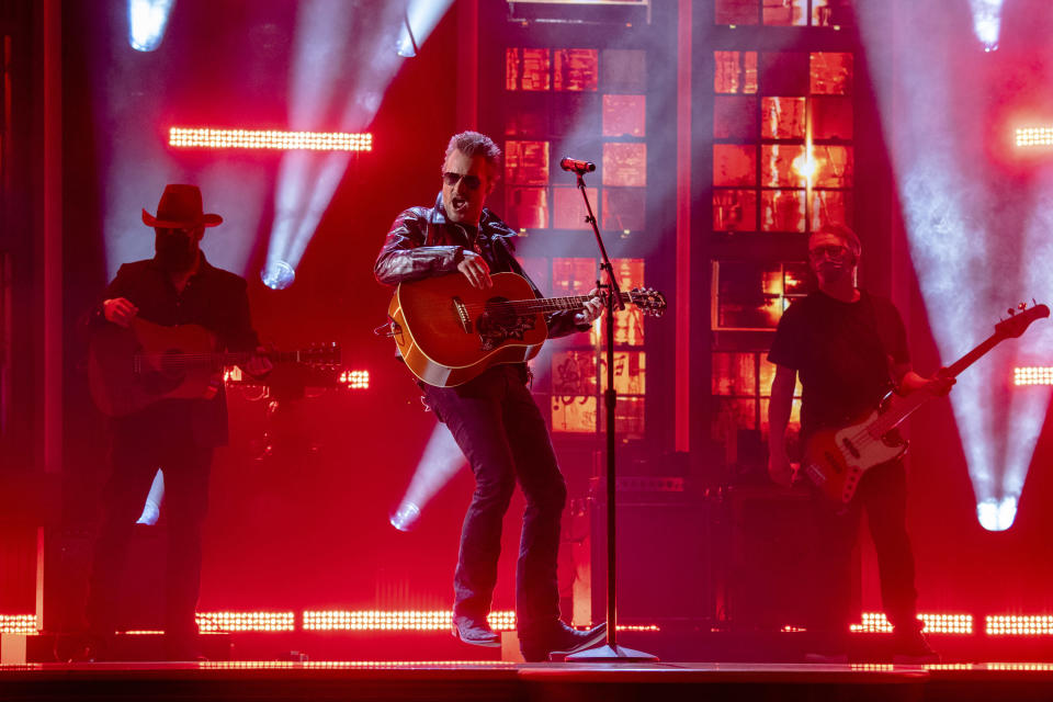 Eric Church performs at the 56th annual Academy of Country Music Awards on Friday April 16, 2021 at the Ryman Auditorium in Nashville, Tenn. The awards show airs on April 18 with both live and prerecorded segments. (Photo by Amy Harris/Invision/AP)