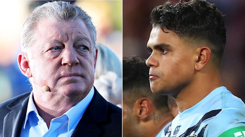 Phil Gould has once again questioned whether Latrell Mitchell will be a 'distraction' for the NSW Blues in State of Origin. Pictures: Getty Images