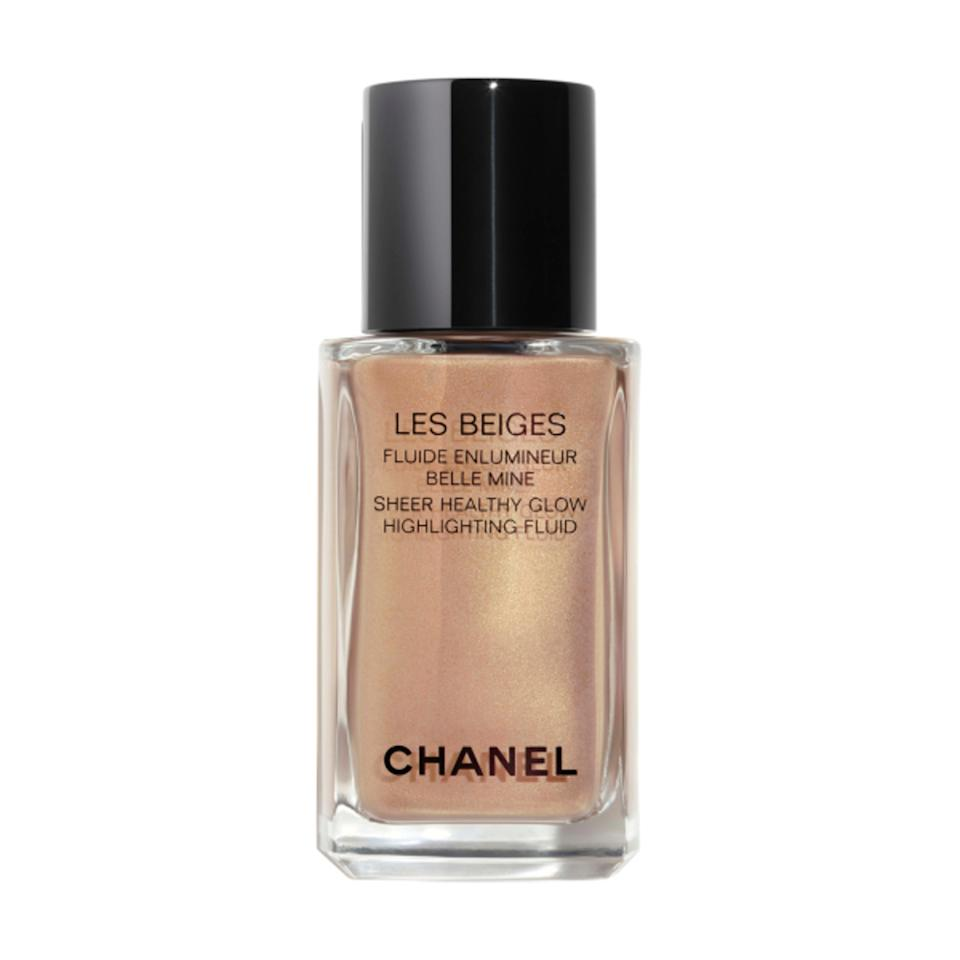 "<p>Chanel's summer collection delivers the kind of glow that's only achievable on the beaches of Southern France — the Healthy Glow Highlighting Fluid is no exception. You can pat a few drops onto the high points of the face, buy why stop there? Use a buffing brush to apply this on the arms and collar bone to fake that summer glow without the sun exposure.</p> <p><strong>$48</strong> (<a href=""https://www.chanel.com/us/makeup/p/186330/les-beiges-sheer-healthy-glow-highlighting-fluid/"" rel=""nofollow noopener"" target=""_blank"" data-ylk=""slk:Shop Now"" class=""link rapid-noclick-resp"">Shop Now</a>)</p>"