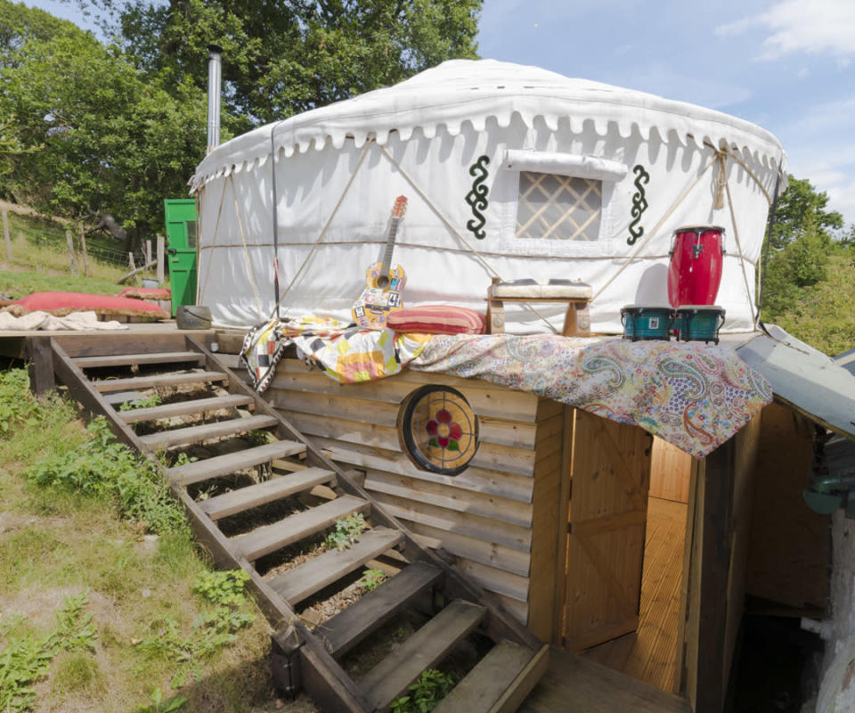 <p>UNIQUE:<br>Hapus Yurt – owned by Jack Fetherstonhaugh in Abergele, Conwy County (Picture: Shed of the Year) </p>