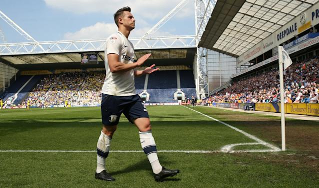 "Soccer Football - Championship - Preston North End vs Burton Albion - Deepdale, Preston, Britain - May 6, 2018 Preston North End's Billy Bodin appluads the fans as he walks off the pitch after receiving his second yellow card Action Images/Jason Cairnduff EDITORIAL USE ONLY. No use with unauthorized audio, video, data, fixture lists, club/league logos or ""live"" services. Online in-match use limited to 75 images, no video emulation. No use in betting, games or single club/league/player publications. Please contact your account representative for further details."