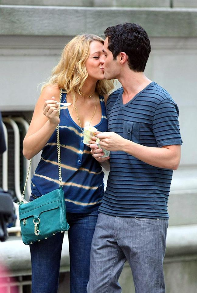 """Gossip Girl"" costars Blake Lively and Penn Badgely are a couple on and off-screen. Abbot/Daniel/<a href=""http://www.infdaily.com"" target=""new"">INFDaily.com</a> - June 13, 2008"