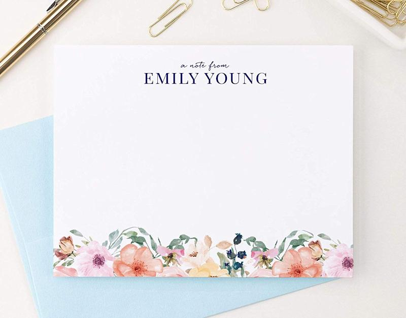 Even mundane info feels special when shared on pretty stationery. (Photo: Amazon)