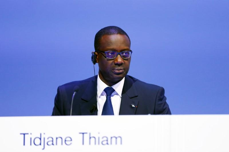 FILE PHOTO: CEO Tidjane Thiam of Swiss bank Credit Suisse attends the bank's extraordinary shareholder meeting in Zurich