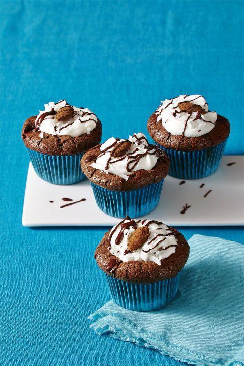"<p>A gluten-free chocolate cupcake recipe re-imagines a beloved candy bar.</p><p><em><a href=""http://www.womansday.com/food-recipes/food-drinks/recipes/a58122/almond-joy-cupcakes-recipes/"" rel=""nofollow noopener"" target=""_blank"" data-ylk=""slk:Get the recipe from Woman's Day »"" class=""link rapid-noclick-resp"">Get the recipe from Woman's Day »</a></em></p>"