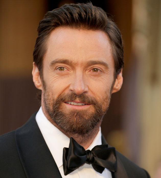 Hugh Jackman arrives at the oscars. (Credit: Getty)