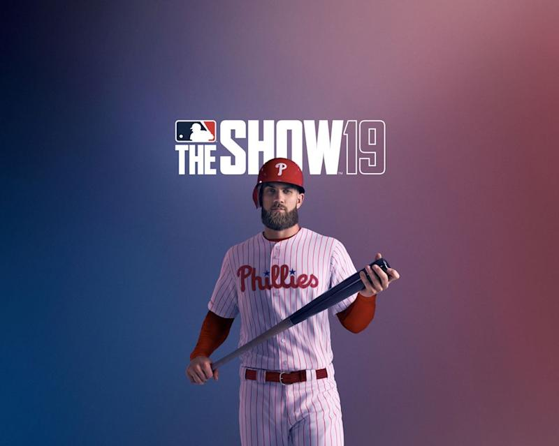 Bryce Harper graces the cover of MLB The Show 19. (Image via MLB The Show 19)