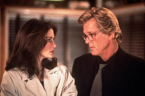 """Nick Nolte & Julia Roberts – 'I Love Trouble' (1994) It's hard to imagine Nick Nolte in any kind of romantic leading man capacity these days, but his unique look was considered hot stuff back in the 90s when he was paired with Julia Roberts in romcom about rival reporters. Roberts did not get on with Nolte one bit and neither party were afraid to admit it. Even years later, they are unable to hide their animosity. Roberts recently called Nolte """"a disgusting human being"""" while Nolte fired back, saying of Roberts, """"She is not a nice person."""" Mee-ow!"""