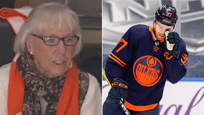 Connor McDavid missed a game-winner and his grandmother was disappointed. (McDavid photo via Getty)