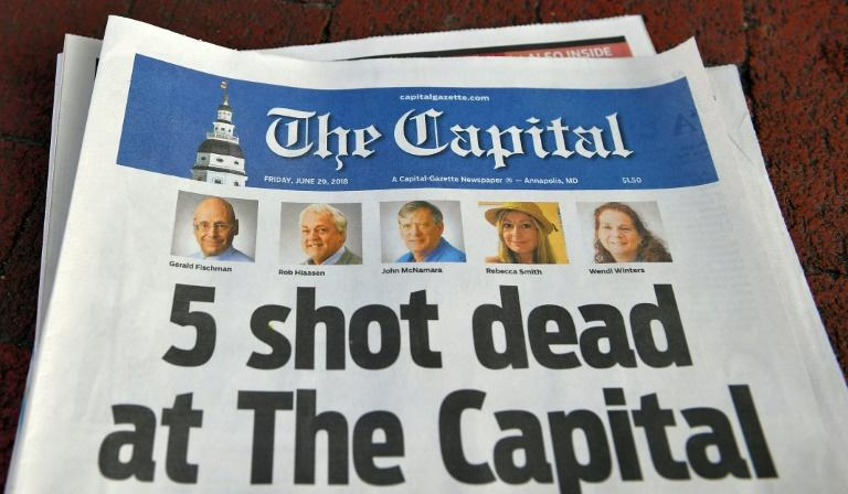 The report cited last year's shooting at The Capital Gazette in Annapolis, Maryland, in which four journalists and one other staff member were killed