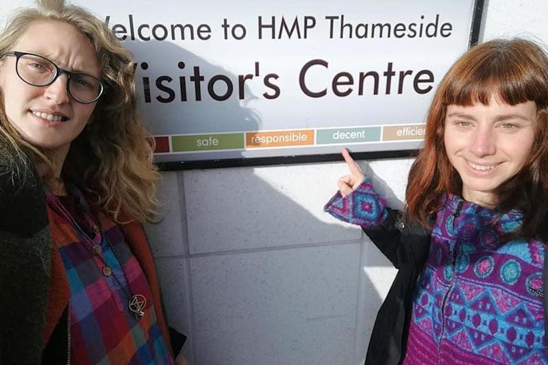 Ms Sutcliffe and her friend were trying to visit an Extinction Rebellion activist who took part in the Canning Town train demo ()