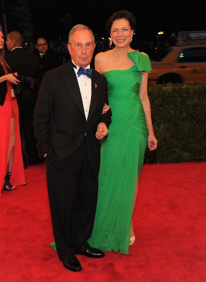 Mayor Michael Bloomberg and Diana Taylor at the Met Gala in 2012