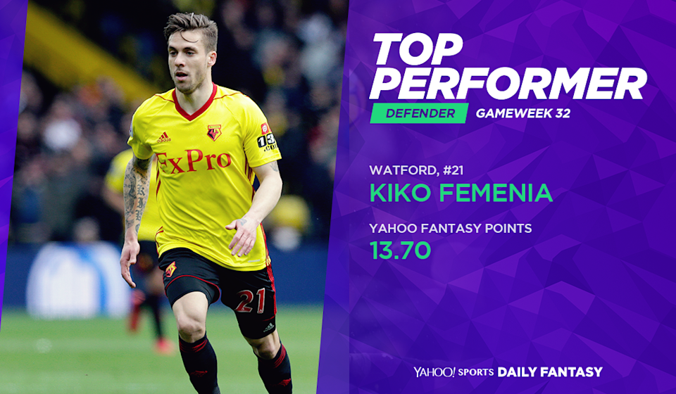 <p>Kiko Femenia scored with one of his two shots against Bournemouth. He chipped in defensively with a tackle and an interception while deployed ahead of Daryl Janmaat on the right wing. </p>