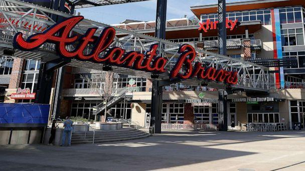 PHOTO: A general view of The Battery Atlanta connected to Truist Park, home of the Atlanta Braves, on March 26, 2020 in Atlanta. (Kevin C. Cox/Getty Images)