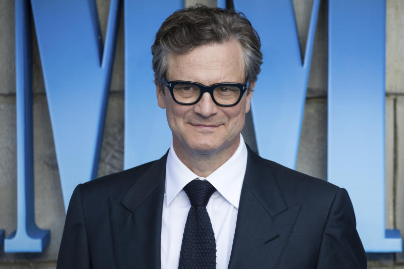 Colin Firth poses for photographers upon arrival at the premiere of the film 'Mamma Mia! Here We Go Again', in London, Monday, July 16, 2018. (Photo by Vianney Le Caer/Invision/AP)