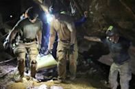 The mission to rescue a young Thai football team who had become trapped in a cave captivated the world (AFP/Handout)