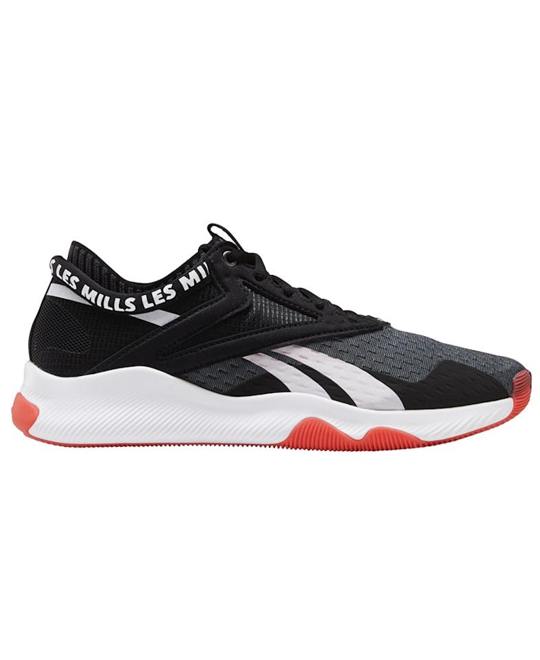 """I used to believe that one pair of running shoes could handle all of my gym sessions, but after getting more into HIIT workouts, I realized I need a more stable shoe. Reebok designed these for that exact purpose and the difference feels really tangible—they're stable enough to handle an intense lifting session but flexible enough to transition to a quick Peloton ride or boxing class. Plus, they look cool enough that I don't mind wearing them around the office. <em>—Macaela MacKenzie, senior health editor</em> $90, Reebok. <a href=""""https://www.reebok.com/us/reebok-hiit-women-s-training-shoes/FU6653.html"""">Get it now!</a>"""
