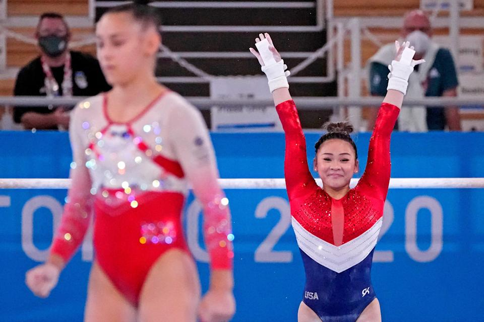 Sunisa Lee will try to win the women's all-around competition Thursday.