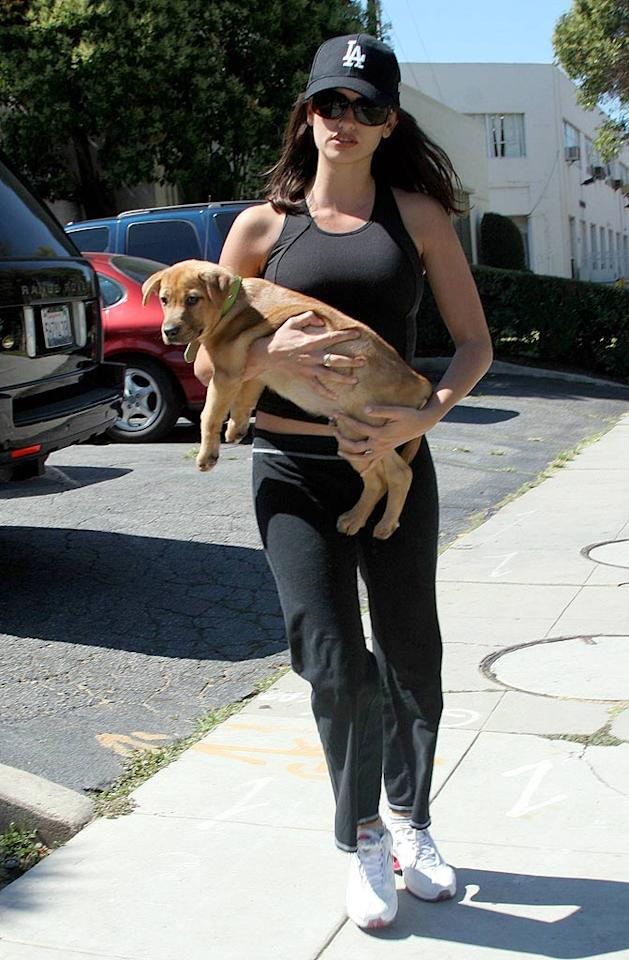 "Penelope Cruz takes her dog to the vet in Beverly Hills. <a href=""http://www.x17online.com"" target=""new"">X17 Online</a> - July 11, 2006"
