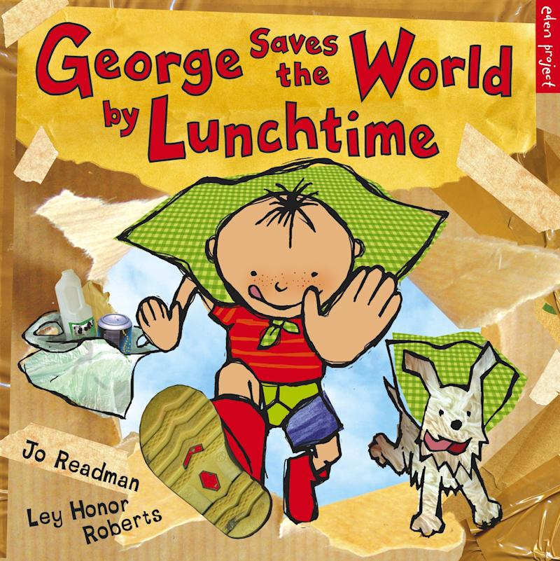 "In this story, a boy named George learns the power of recycling at the suggestion of his grandfather. <i>(Available <a href=""https://www.amazon.com/George-Saves-World-Lunchtime-Project/dp/1903919509"" target=""_blank"" rel=""noopener noreferrer"">here</a>)</i>"