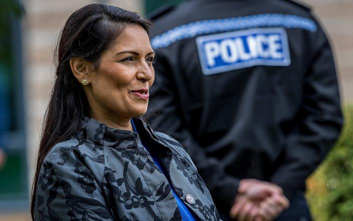 """The French have rubbished as """"fantasy"""" claims by Priti Patel, the Home Secretary, that they are reluctant to stop migrants crossing the English Channel - Charlotte Graham"""
