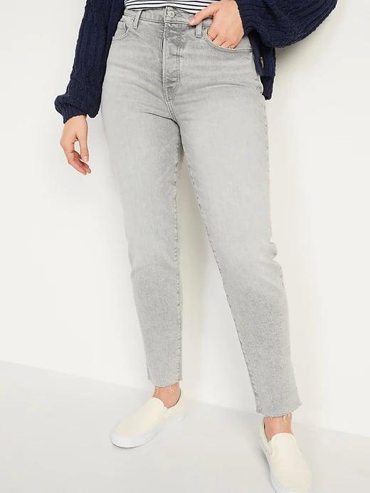 <p>Pair faded <span>Old Navy High-Waisted O.G. Straight Button-Fly Gray Cut-Off Jeans</span> ($38, originally $40) with your favorite tee or an oversized sweater when it cools down.</p>