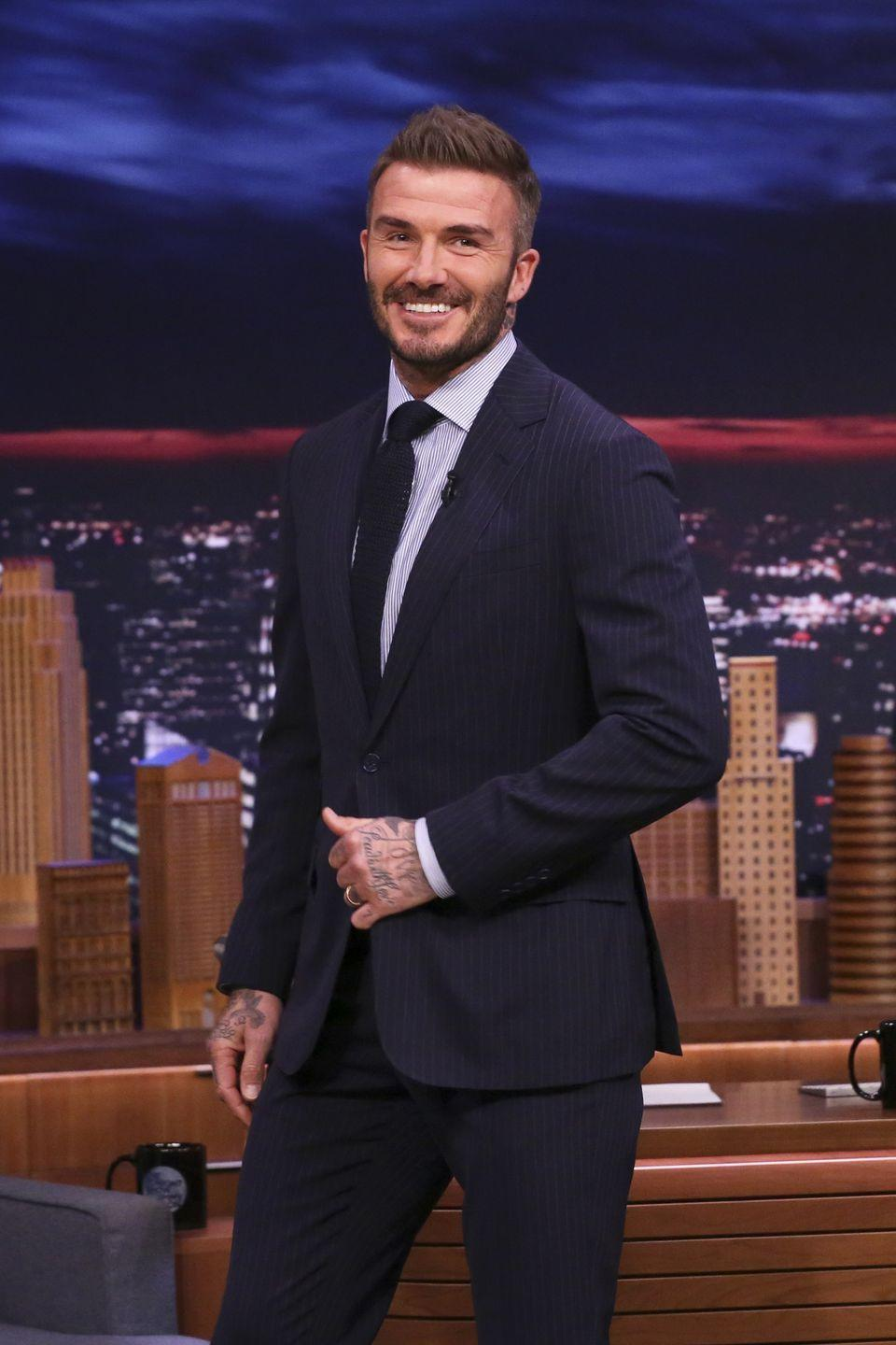 <p><strong>Hair</strong></p><p>With a fashion entrepreneur for a wife, Beckham always looks put-together and ready to hit the men's fashion runway. </p>