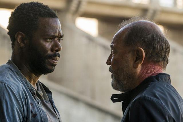 Colman Domingo as Victor Strand and Ruben Blades as Daniel Salazar in 'Fear the Walking Dead' (Photo Credit: Richard Foreman, Jr/AMC)