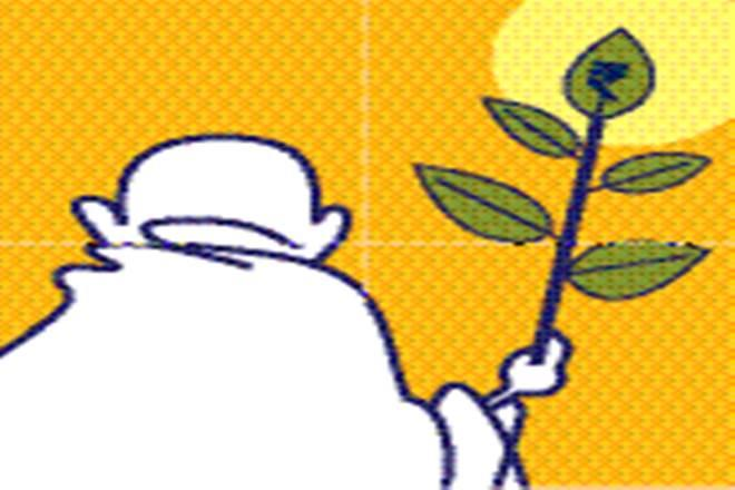 Ahimsa or non-violence is one of the core principles of Mahatma Gandhiji s philosophy. (Illustration: Shyam Kumar Prasad)