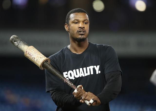 Adam Jones grew up in San Diego watching other black players like Tony Gwynn, Chris Gwynn, Gary Sheffield, Greg Vaughn, and Fred McGriff. (Getty Images)